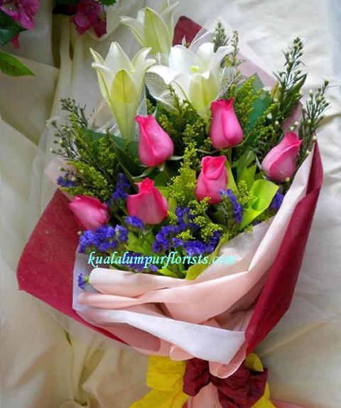 KLHB8652 (Lilies & Pink Roses)