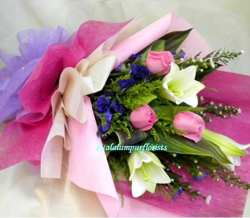 KLHB7735 (Pink Roses & Lilies)