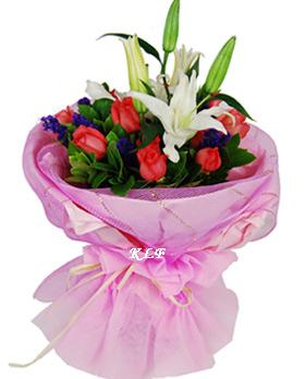 KLHB8710 (Mixed Roses Lilies)