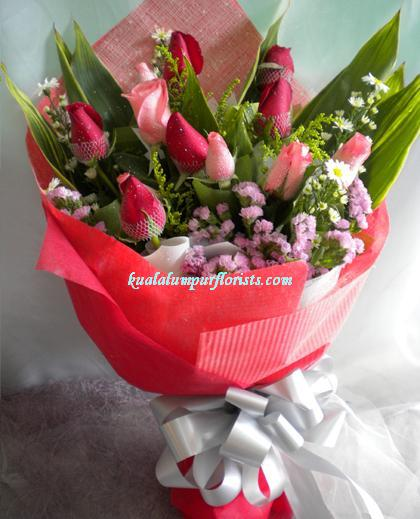 KLHB8256 (Pink & red roses)