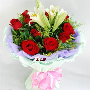 KLHB8678 (Mixed Lilies Roses)