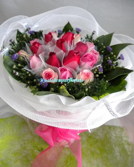 KLHB8464 (Red & pink roses)
